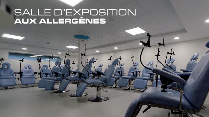 Salle d'exposition du centre ALYATEC aux allergènes